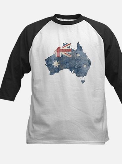Vintage Australia Flag / Map Kids Baseball Jersey
