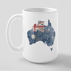Vintage Australia Flag / Map Large Mug