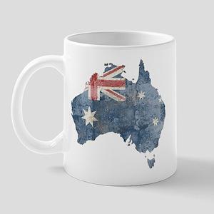Vintage Australia Flag / Map Mug