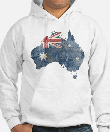 Vintage Australia Flag / Map Jumper Hoody
