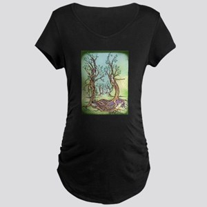 Dancing Forest Coloured Maternity Dark T-Shirt