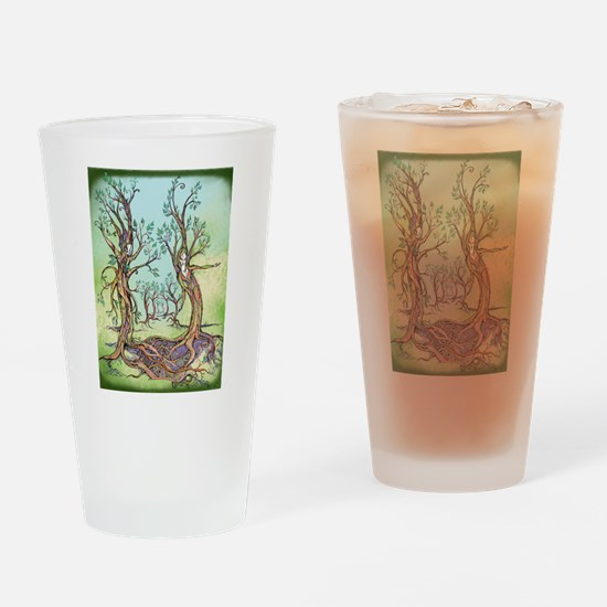 Dancing Forest Coloured Drinking Glass