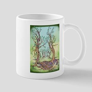 Dancing Forest Coloured Mug