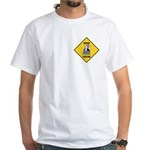 Macaw Crossing Sign White T-Shirt
