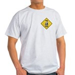 Macaw Crossing Sign Light T-Shirt