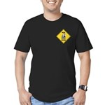 Macaw Crossing Sign Men's Fitted T-Shirt (dark)