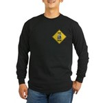 Macaw Crossing Sign Long Sleeve Dark T-Shirt