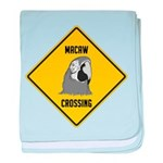 Macaw Crossing Sign baby blanket