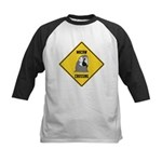 Macaw Crossing Sign Kids Baseball Jersey
