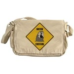 Macaw Crossing Sign Messenger Bag