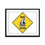 Macaw Crossing Sign Framed Panel Print