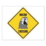Macaw Crossing Sign Small Poster