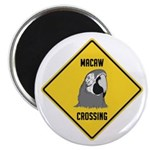 Macaw Crossing Sign Magnet