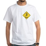 Budgie Crossing Sign White T-Shirt