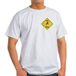 Budgie Crossing Sign Light T-Shirt
