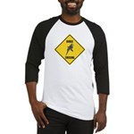 Budgie Crossing Sign Baseball Jersey