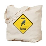 Budgie Crossing Sign Tote Bag