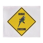 Budgie Crossing Sign Throw Blanket