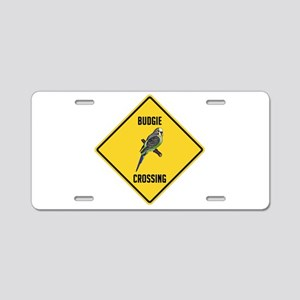 Budgie Crossing Sign Aluminum License Plate