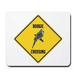 Budgie Crossing Sign Mousepad