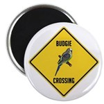 Budgie Crossing Sign Magnet