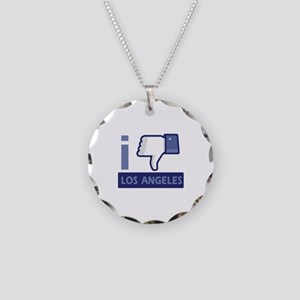 I unlike Los Angeles Necklace Circle Charm