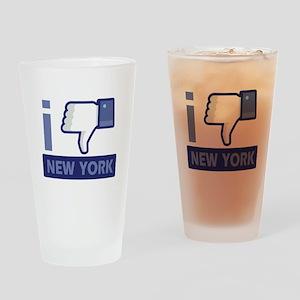 I unlike New York Drinking Glass