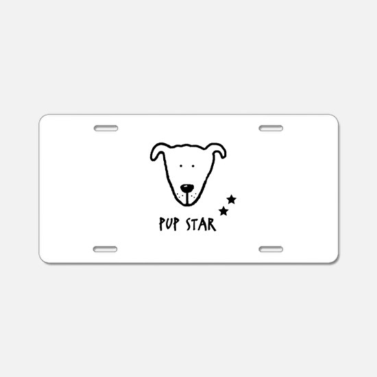 Pup Star Featuring Bella Aluminum License Plate