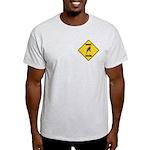 Parakeet Crossing Sign Light T-Shirt