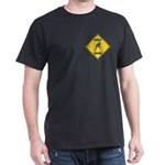Parakeet Crossing Sign Dark T-Shirt