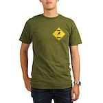 Parakeet Crossing Sign Organic Men's T-Shirt (dark