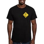 Parakeet Crossing Sign Men's Fitted T-Shirt (dark)