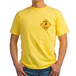 Parakeet Crossing Sign Yellow T-Shirt