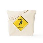 Parakeet Crossing Sign Tote Bag