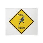 Parakeet Crossing Sign Throw Blanket
