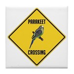 Parakeet Crossing Sign Tile Coaster