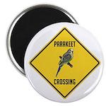 Parakeet Crossing Sign Magnet