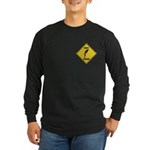 Parrot Crossing Sign Long Sleeve Dark T-Shirt