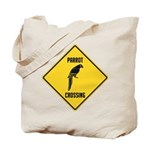 Parrot Crossing Sign Tote Bag