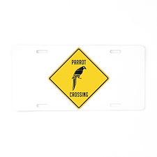 Parrot Crossing Sign Aluminum License Plate