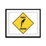 Parrot Crossing Sign Framed Panel Print