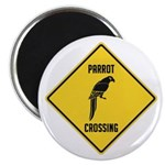 Parrot Crossing Sign Magnet