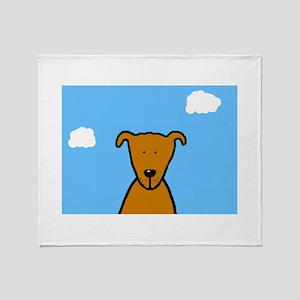 Bella The Dog Throw Blanket