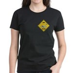 Swan Crossing Sign Women's Dark T-Shirt
