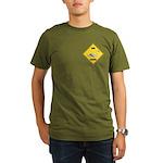 Swan Crossing Sign Organic Men's T-Shirt (dark)