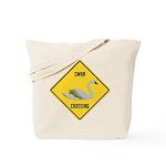 Swan Crossing Sign Tote Bag