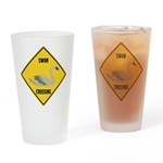 Swan Crossing Sign Drinking Glass