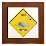 Swan Crossing Sign Framed Tile