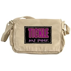 tickle me pink Messenger Bag