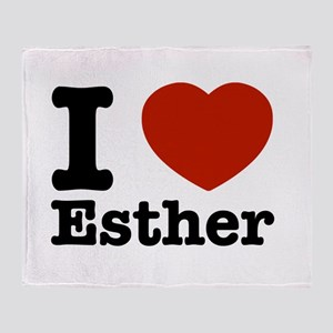 I love Esther Throw Blanket